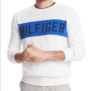 Tommy Hilfiger White Logo Pullover Sweater NEW XXL